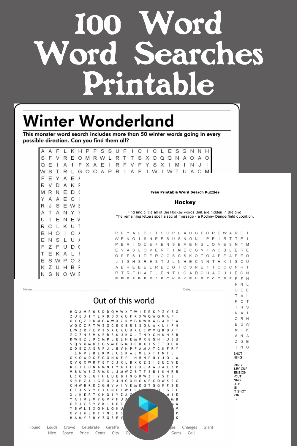 100 Word Word Searches Printable