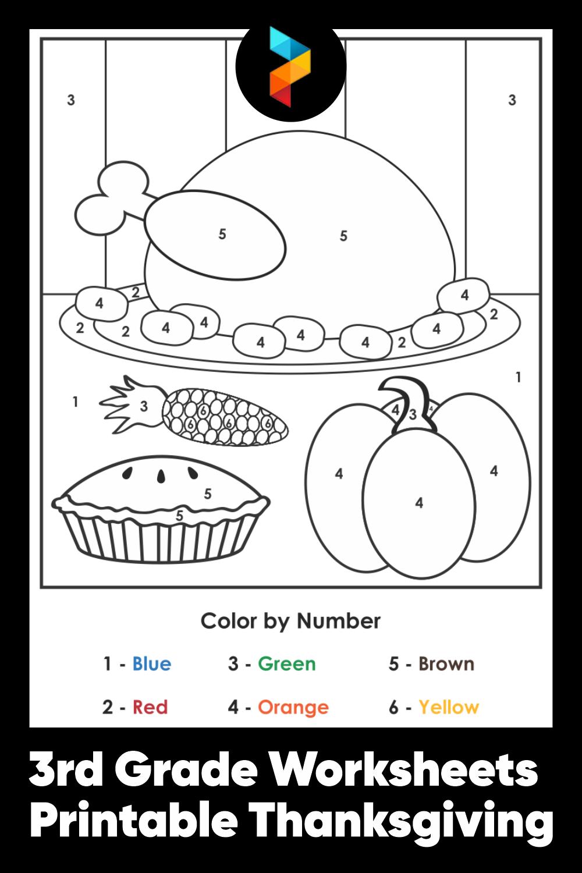3rd Grade Worksheets Printable Thanksgiving