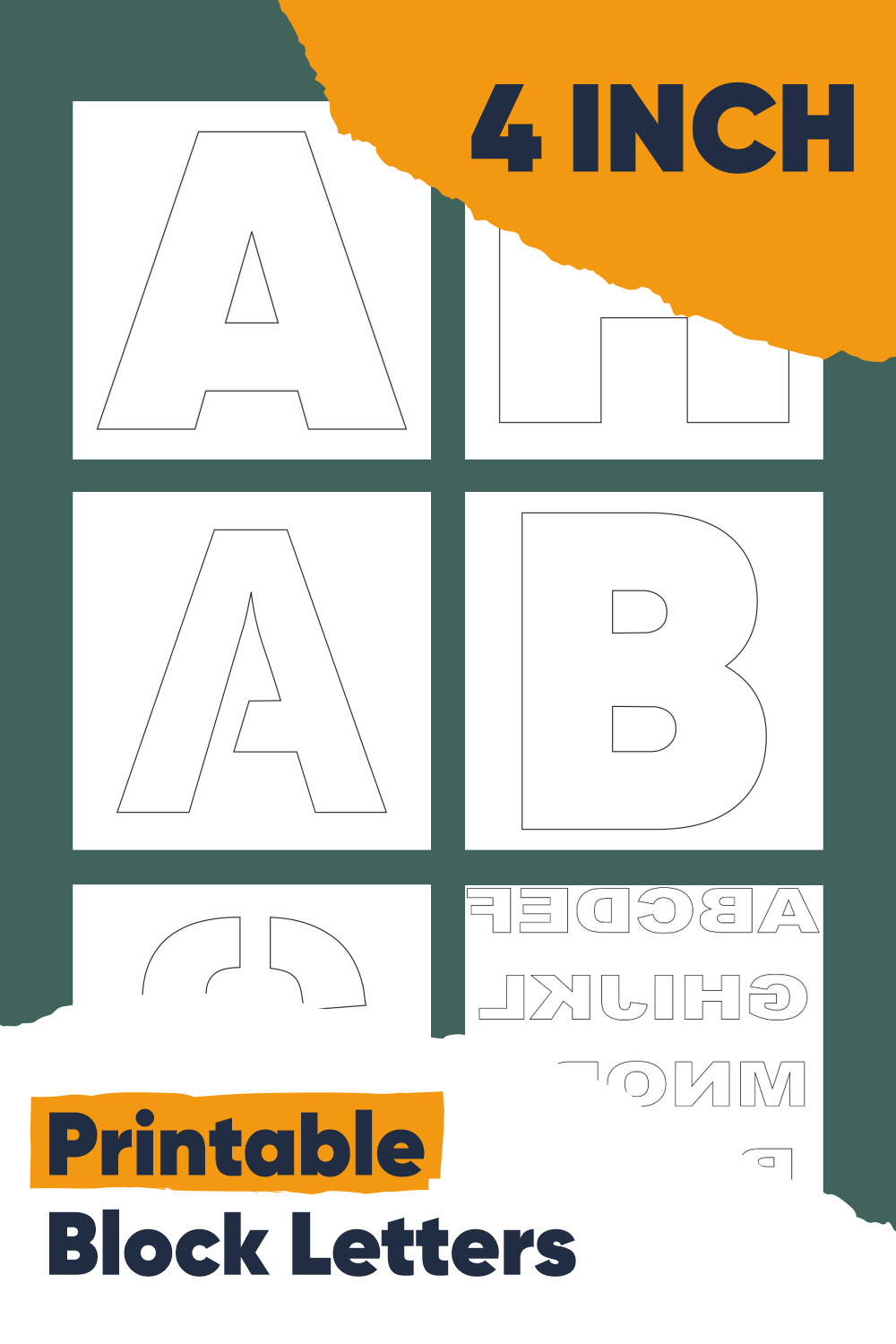 4 Inch Printable Block Letters