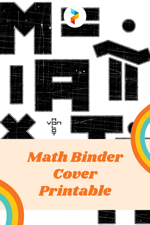 Math Binder Cover Printable
