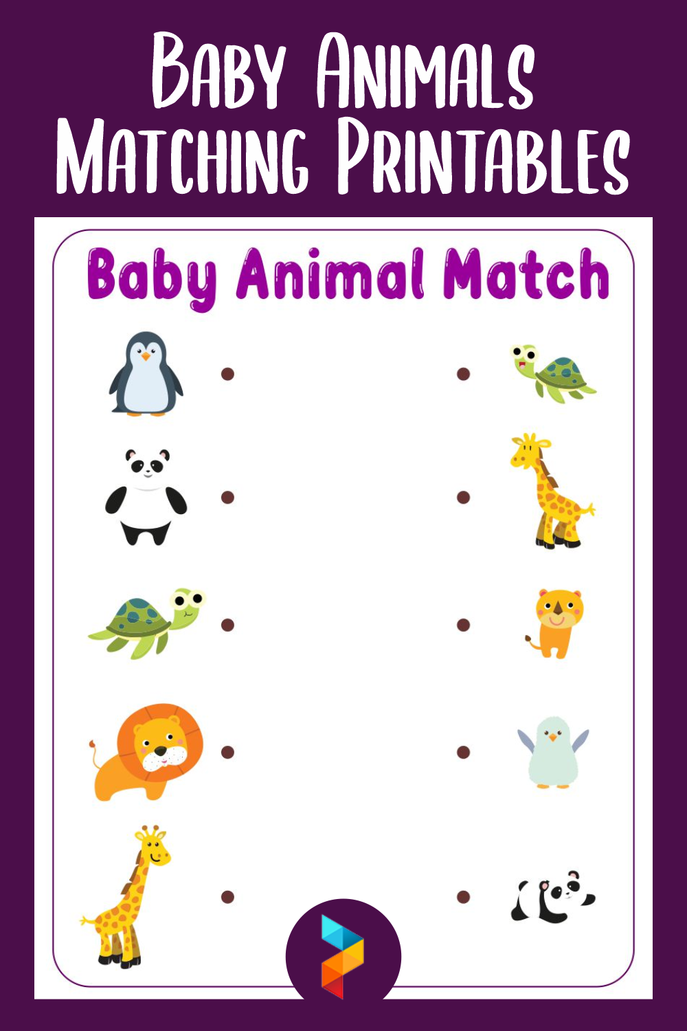 Baby Animals Matching Printables
