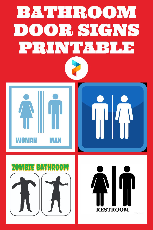 Bathroom Door Signs Printable
