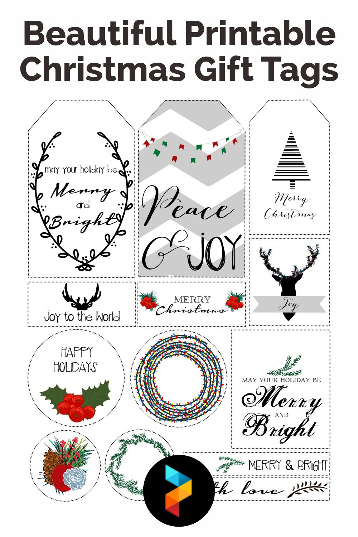 Beautiful Printable Christmas Gift Tags