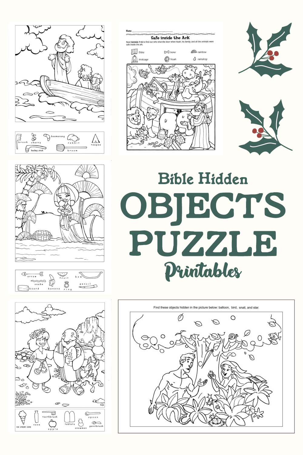 5 Best Bible Printables Hidden Objects Puzzle Printablee Com