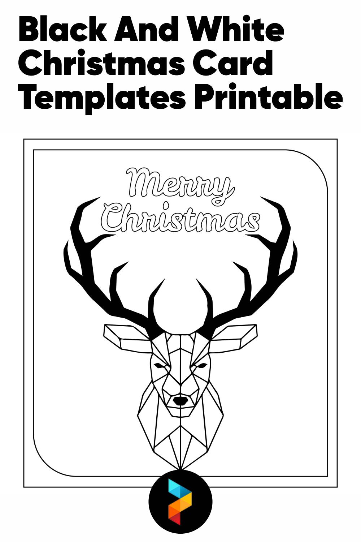Black And White Christmas Card Templates Printable