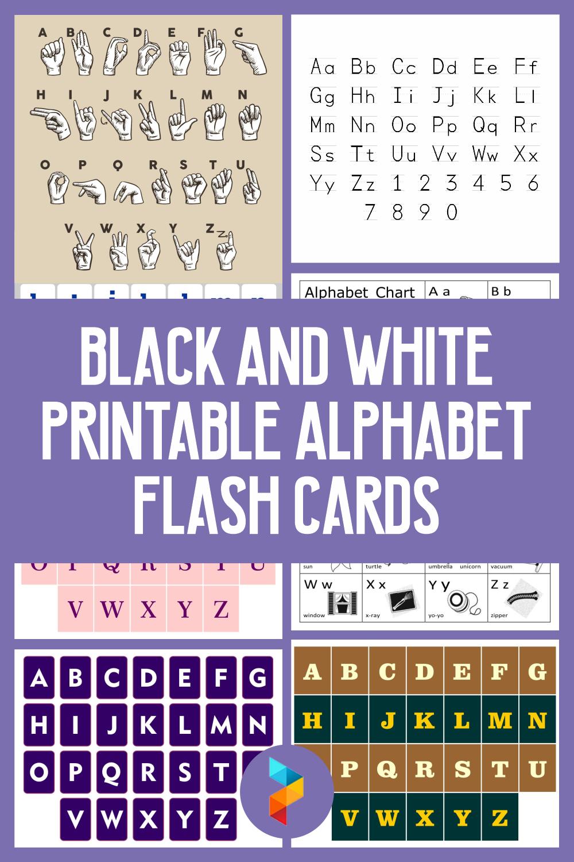 Black And White Printable Alphabet Flash Cards