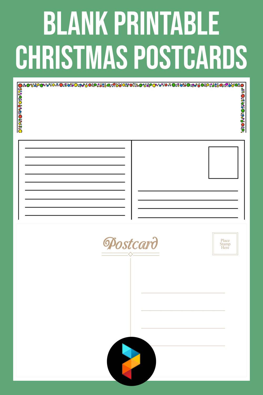 Blank Printable Christmas Postcards