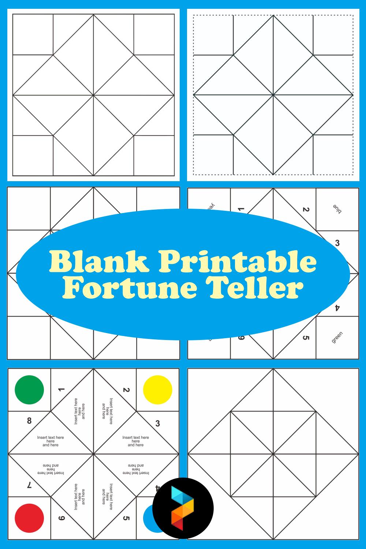 Blank Printable Fortune Teller