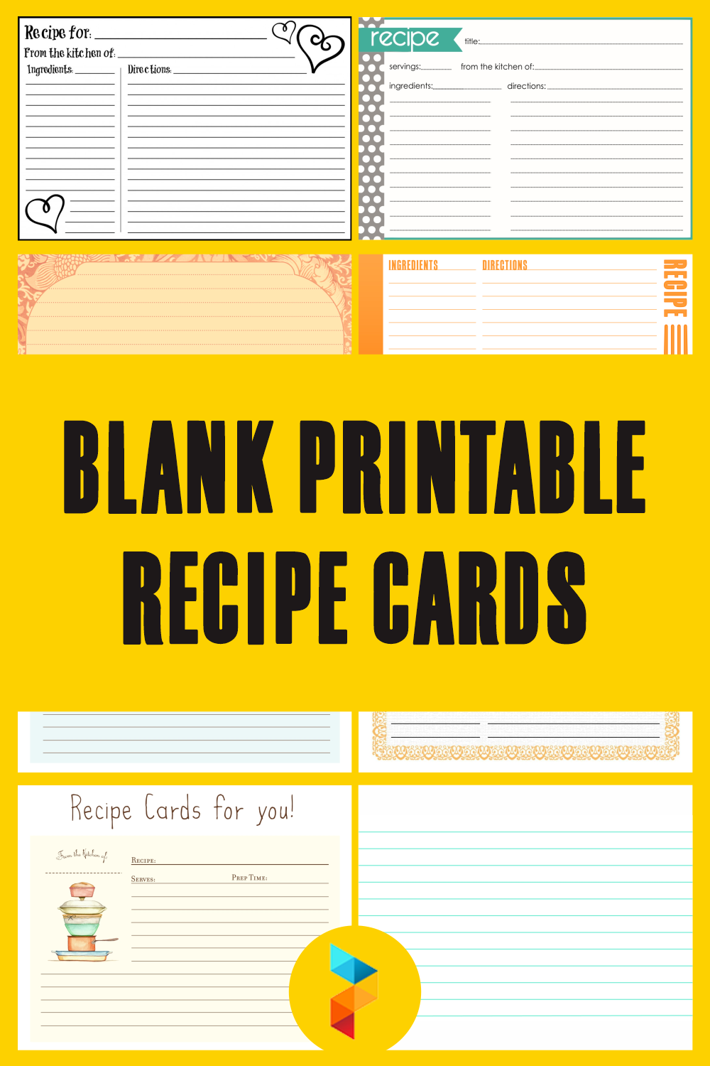 Blank Printable Recipe Cards