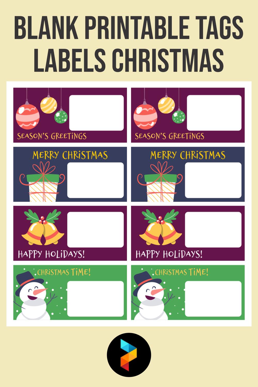 Blank Printable Tags Labels Christmas