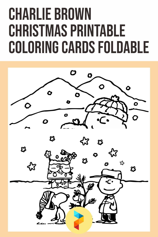 Charlie Brown Christmas Printable Coloring Cards Foldable