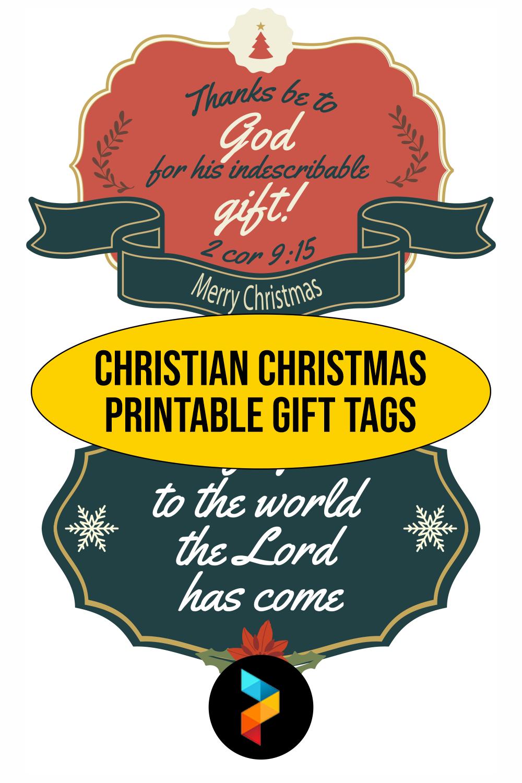Christian Christmas Printable Gift Tags