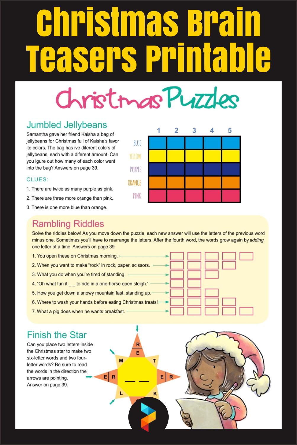 Christmas Brain Teasers Printable