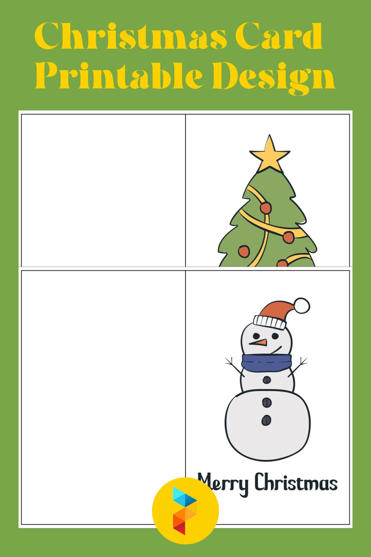 Christmas Card Printable Design