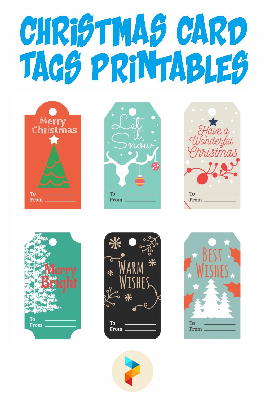 Christmas Card Tags Printables
