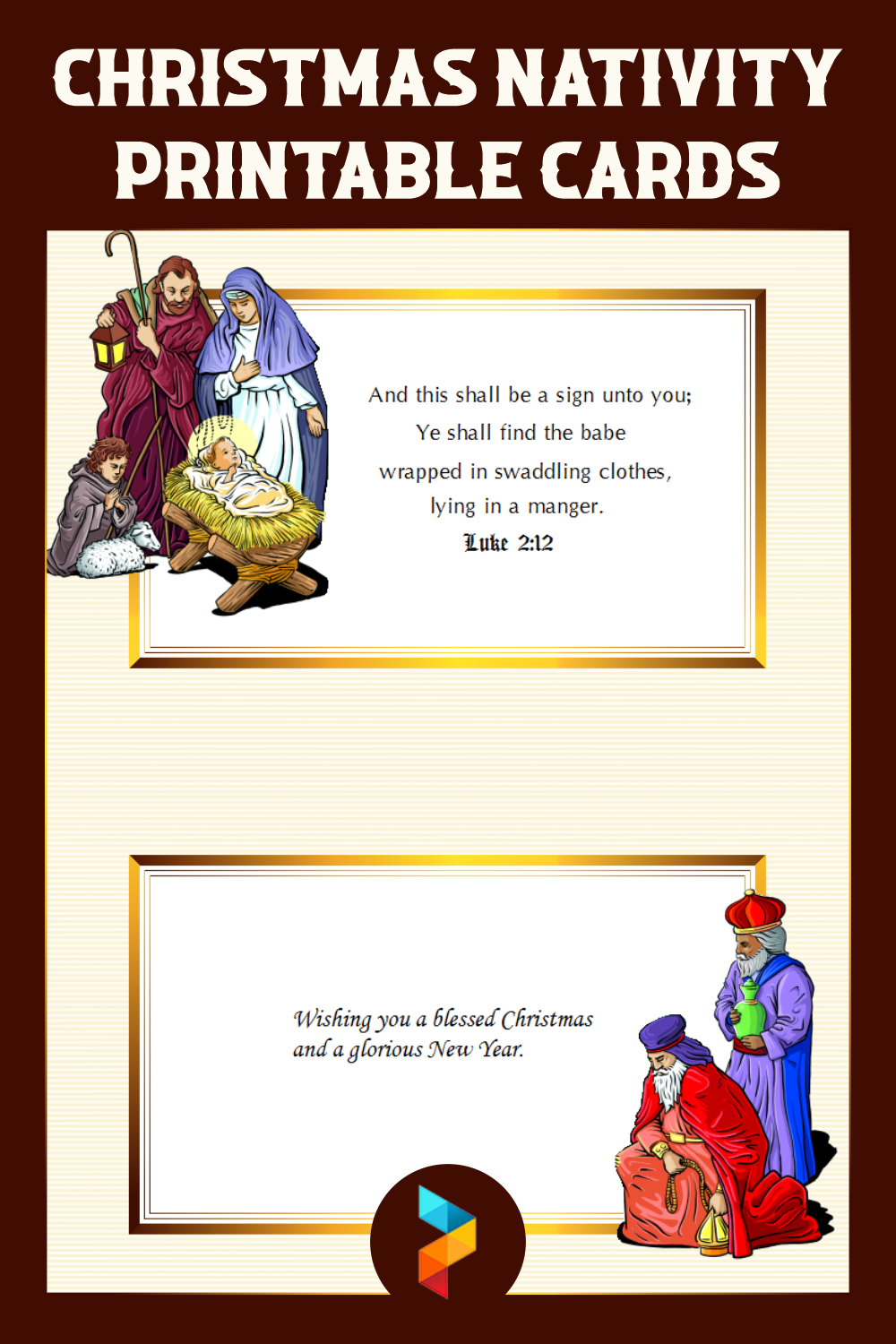 Christmas Nativity Printable Cards