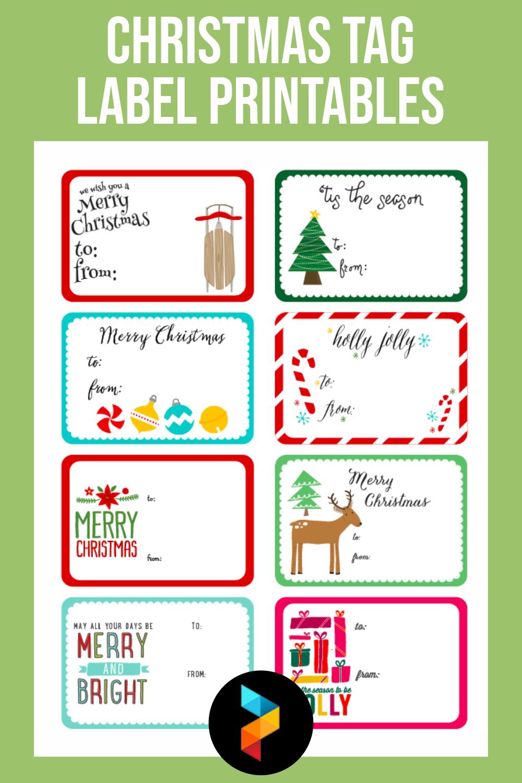 Christmas Tag Label Printables