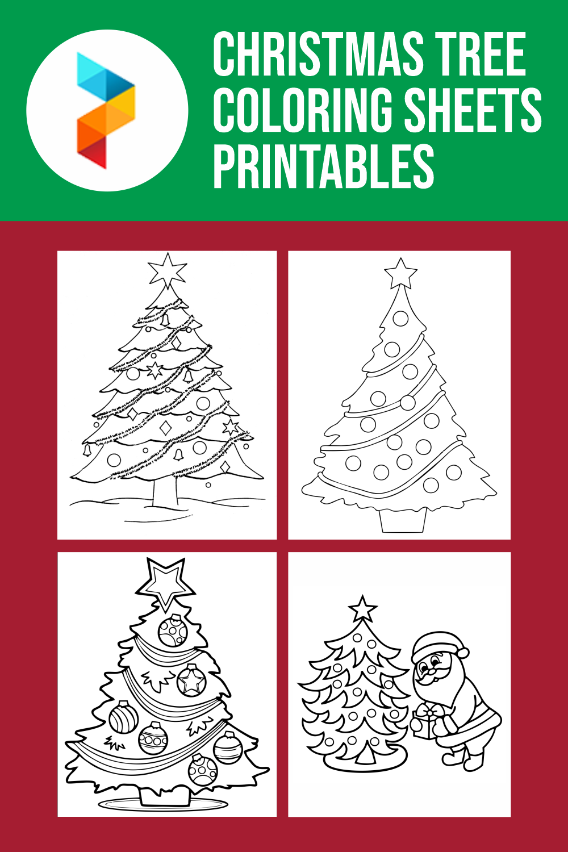 Christmas Tree Coloring Sheets Printables