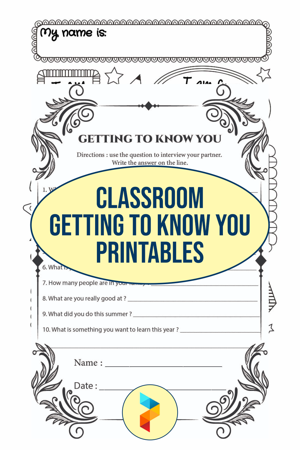 Classroom Getting To Know You Printables