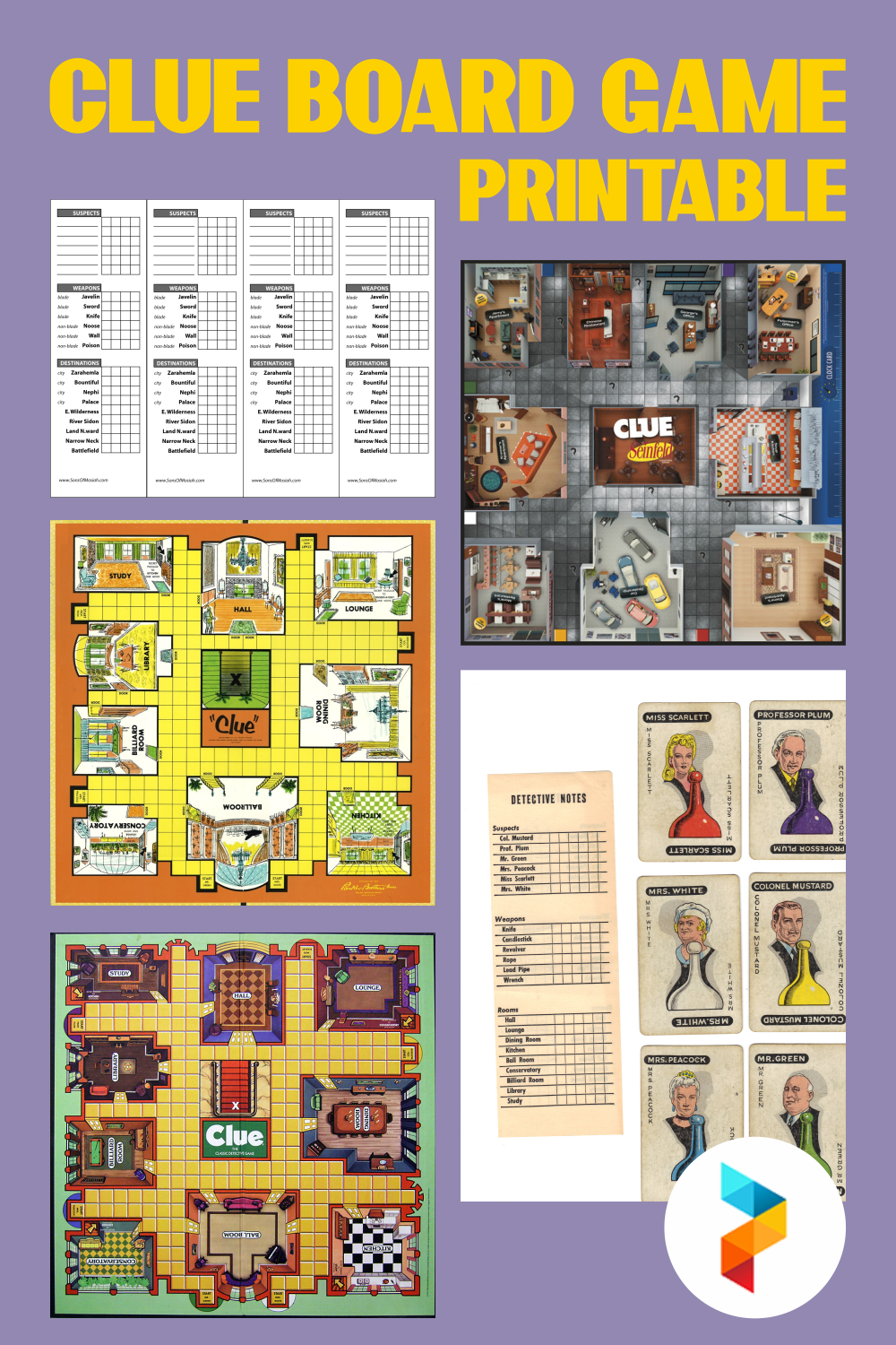 Clue Board Game Printable