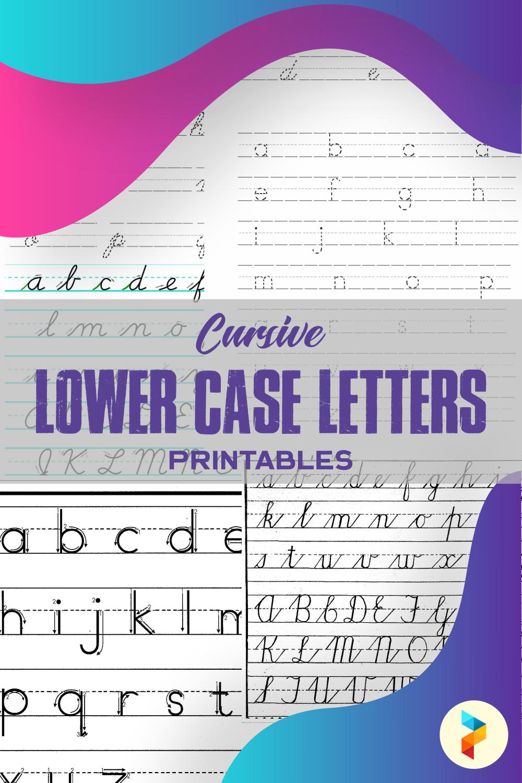 Cursive Lower Case Letters Printables