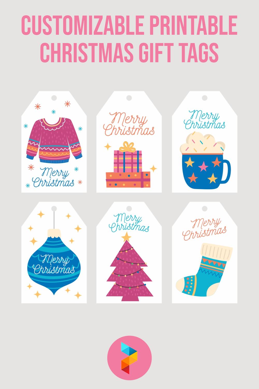 Customizable Printable Christmas Gift Tags