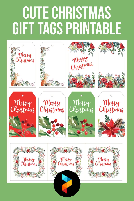 Cute Christmas Gift Tags Printable