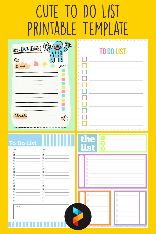 20 Best Cute To Do List Printable Template   printablee.com