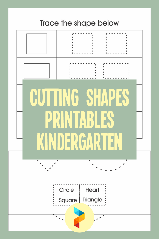 Cutting Shapes Printables Kindergarten
