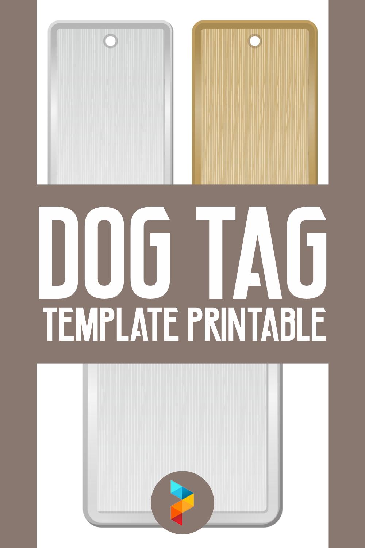 Dog Tag Template Printable