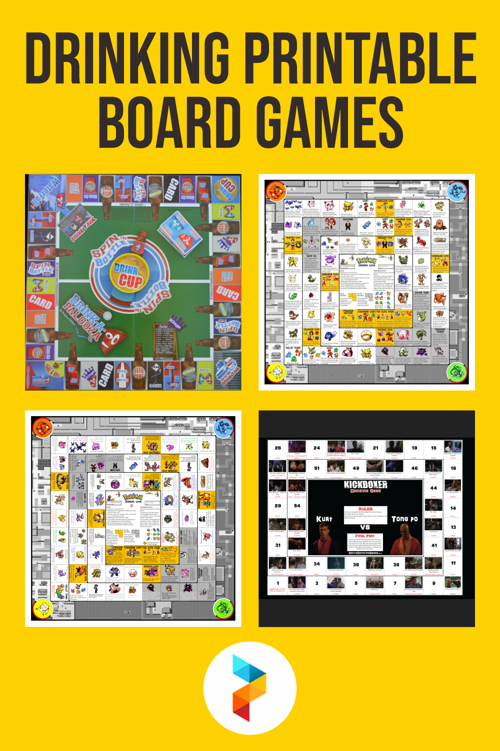 Drinking Printable Board Games