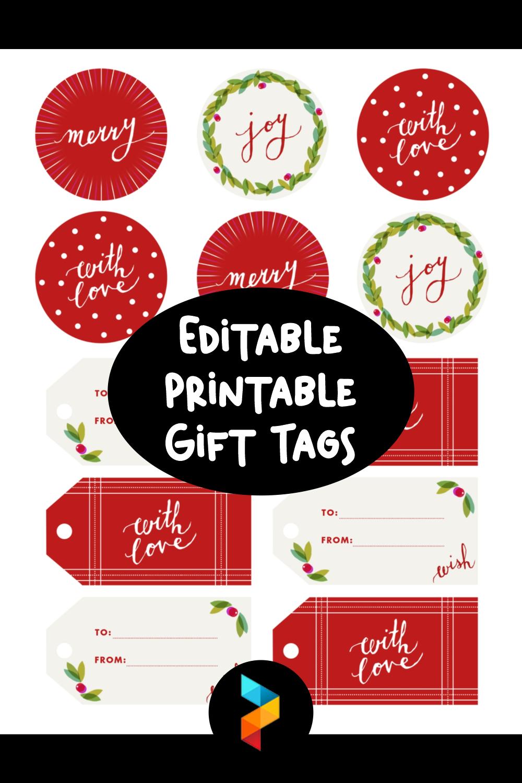 Editable Printable Gift Tags
