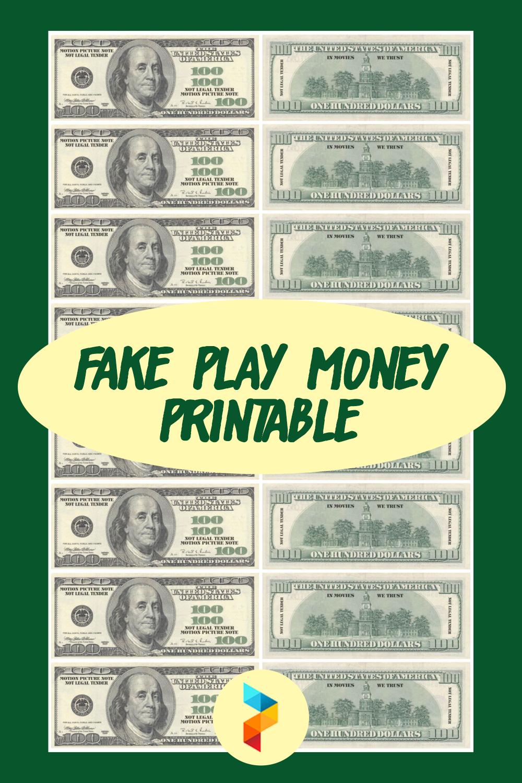 Fake Play Money Printable