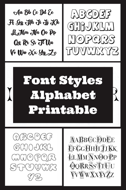Font Styles Alphabet Printable