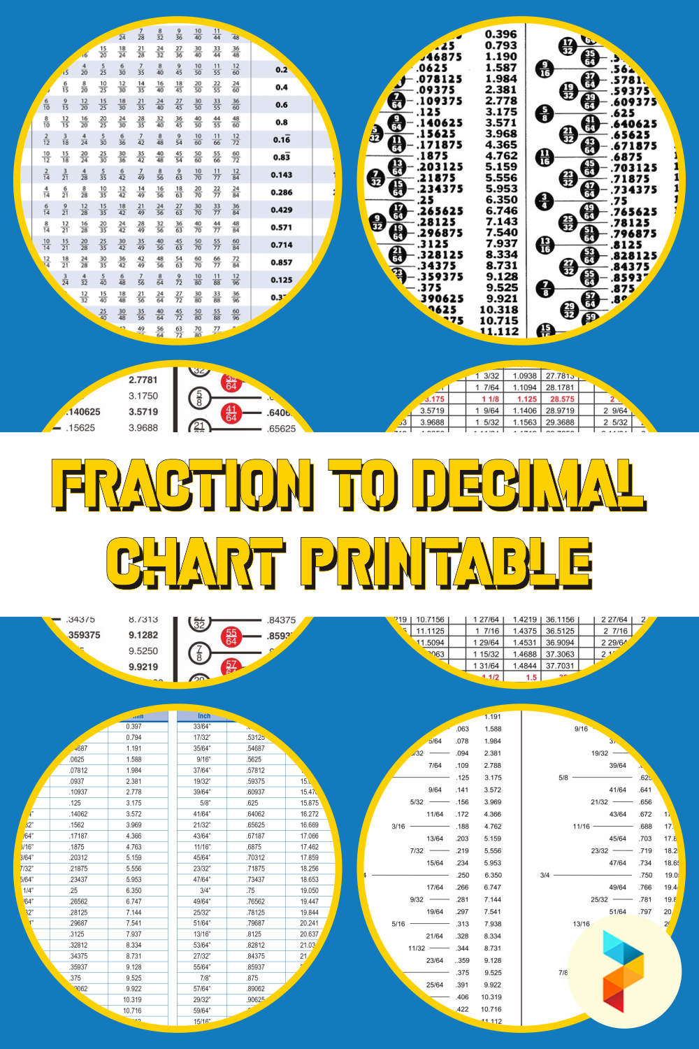 Fraction To Decimal Chart Printable