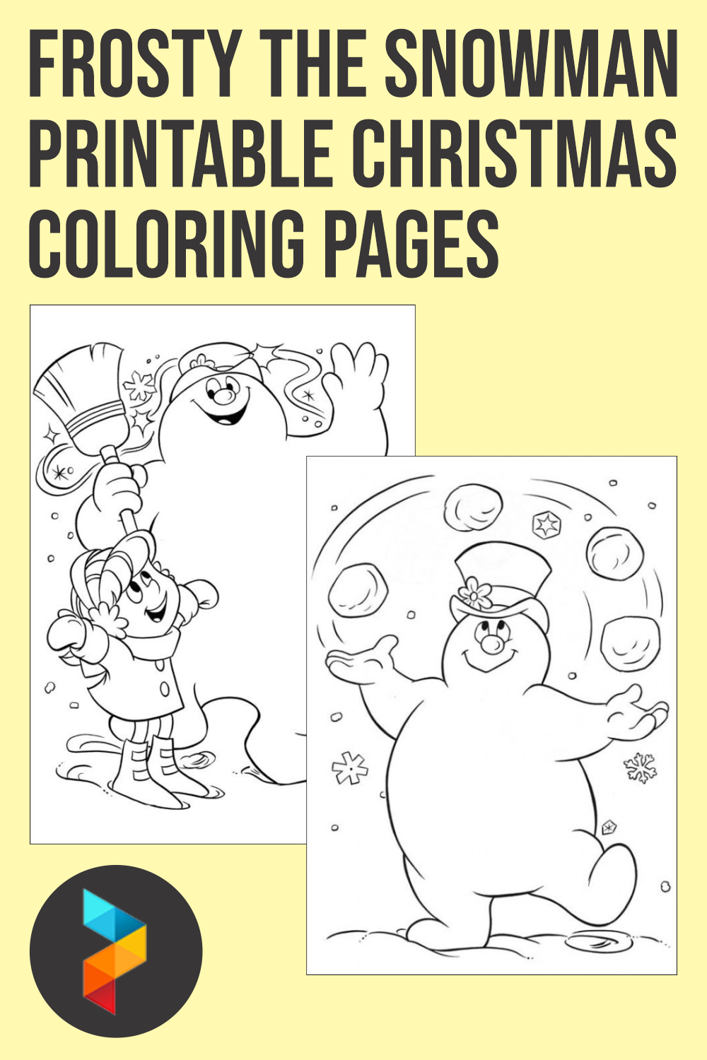 Frosty The Snowman Printable Christmas Coloring Pages