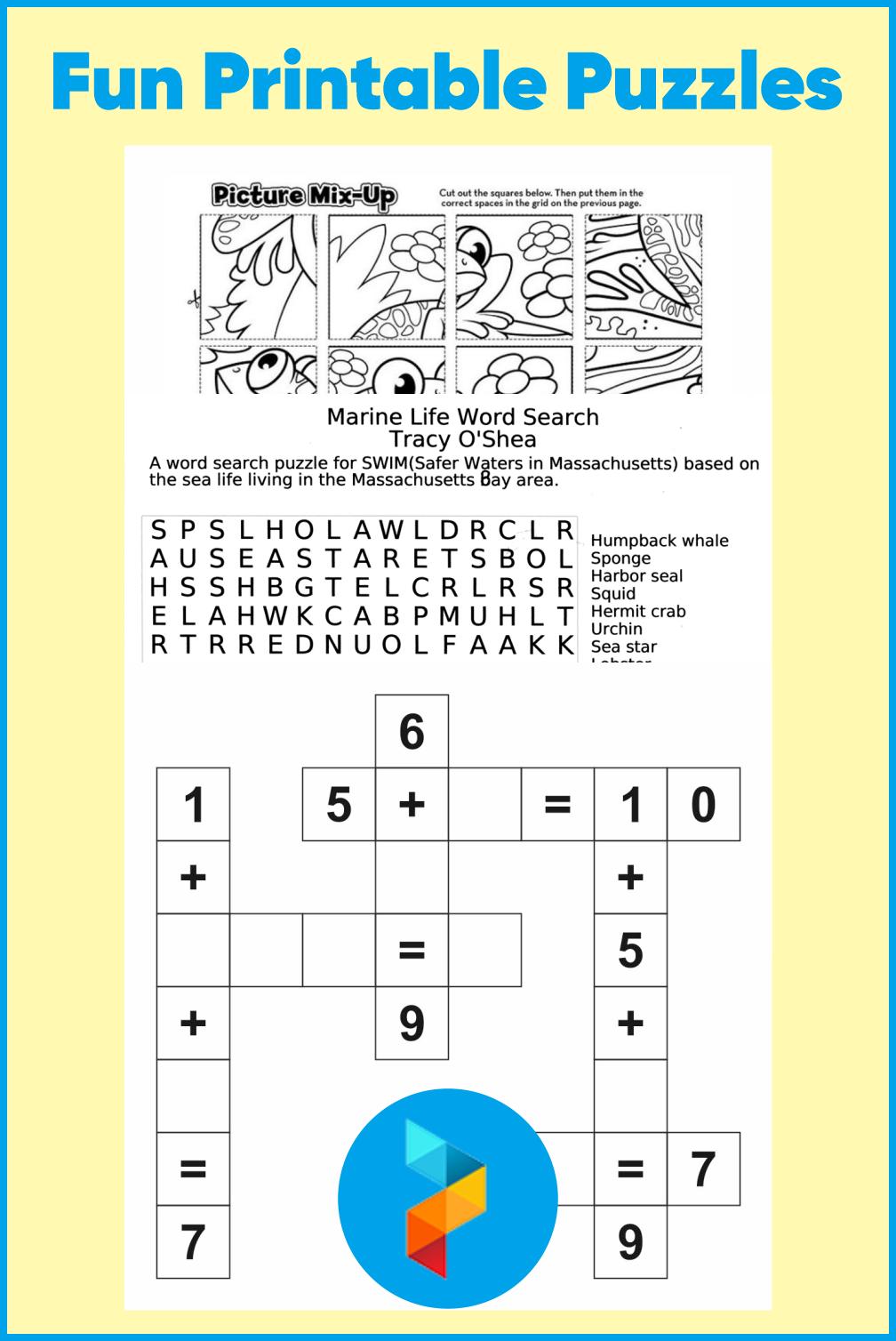 Fun Printable Puzzles