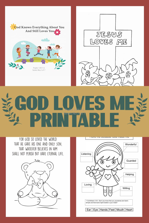 God Loves Me Printable