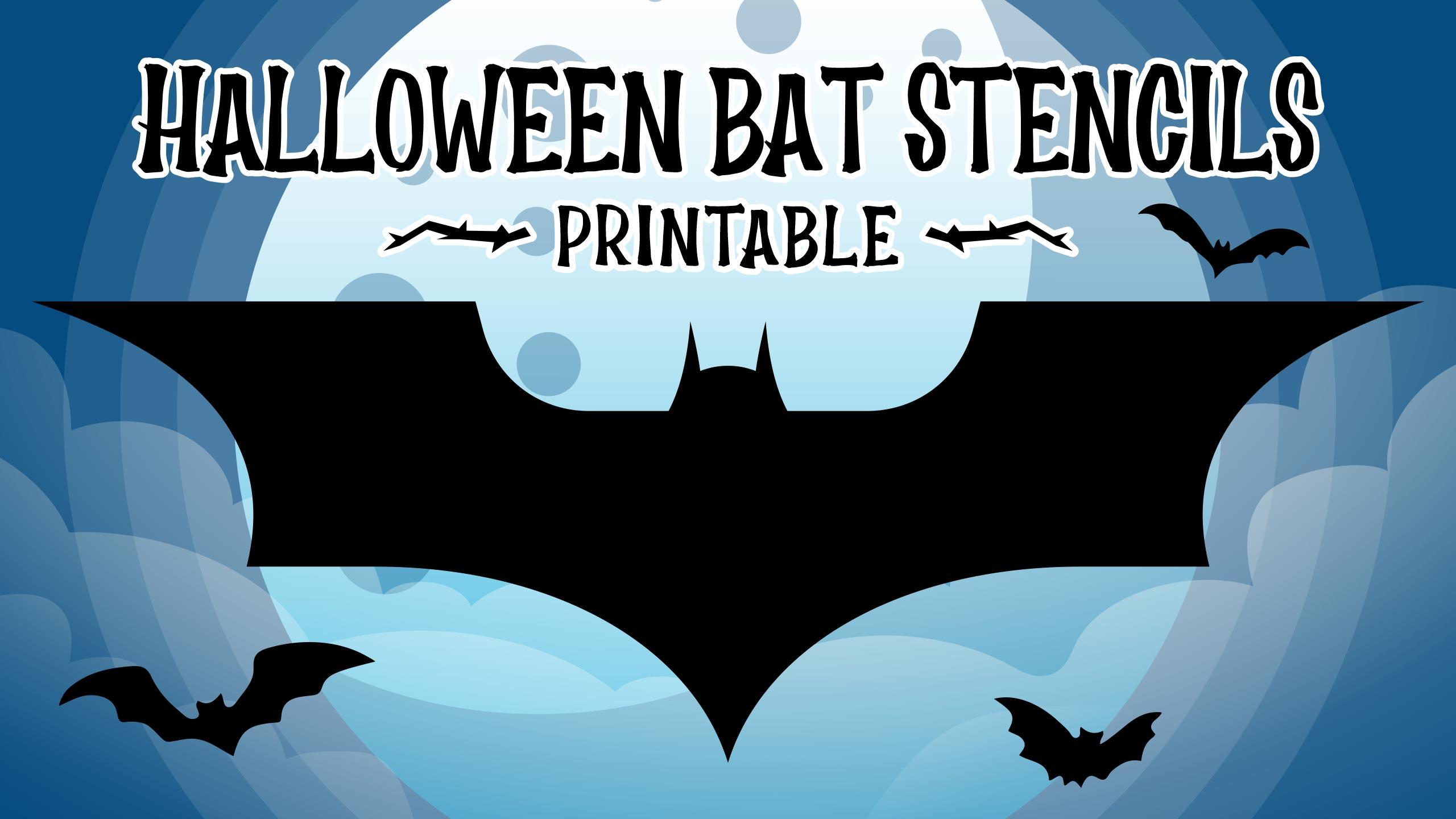 Halloween Bat Stencils Printable