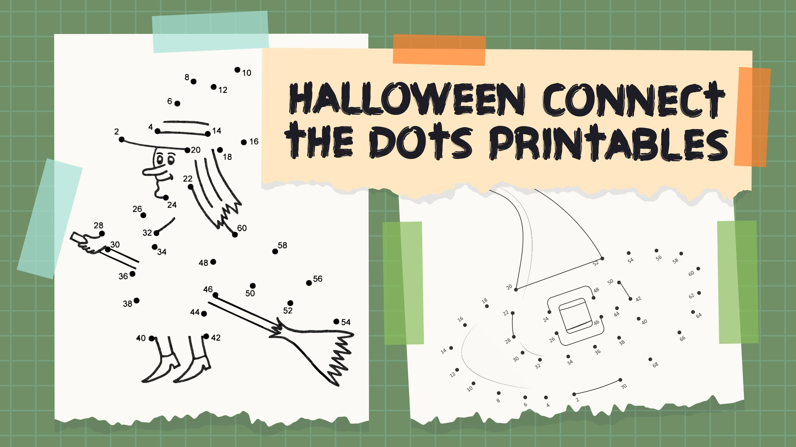 Halloween Connect The Dots Printables