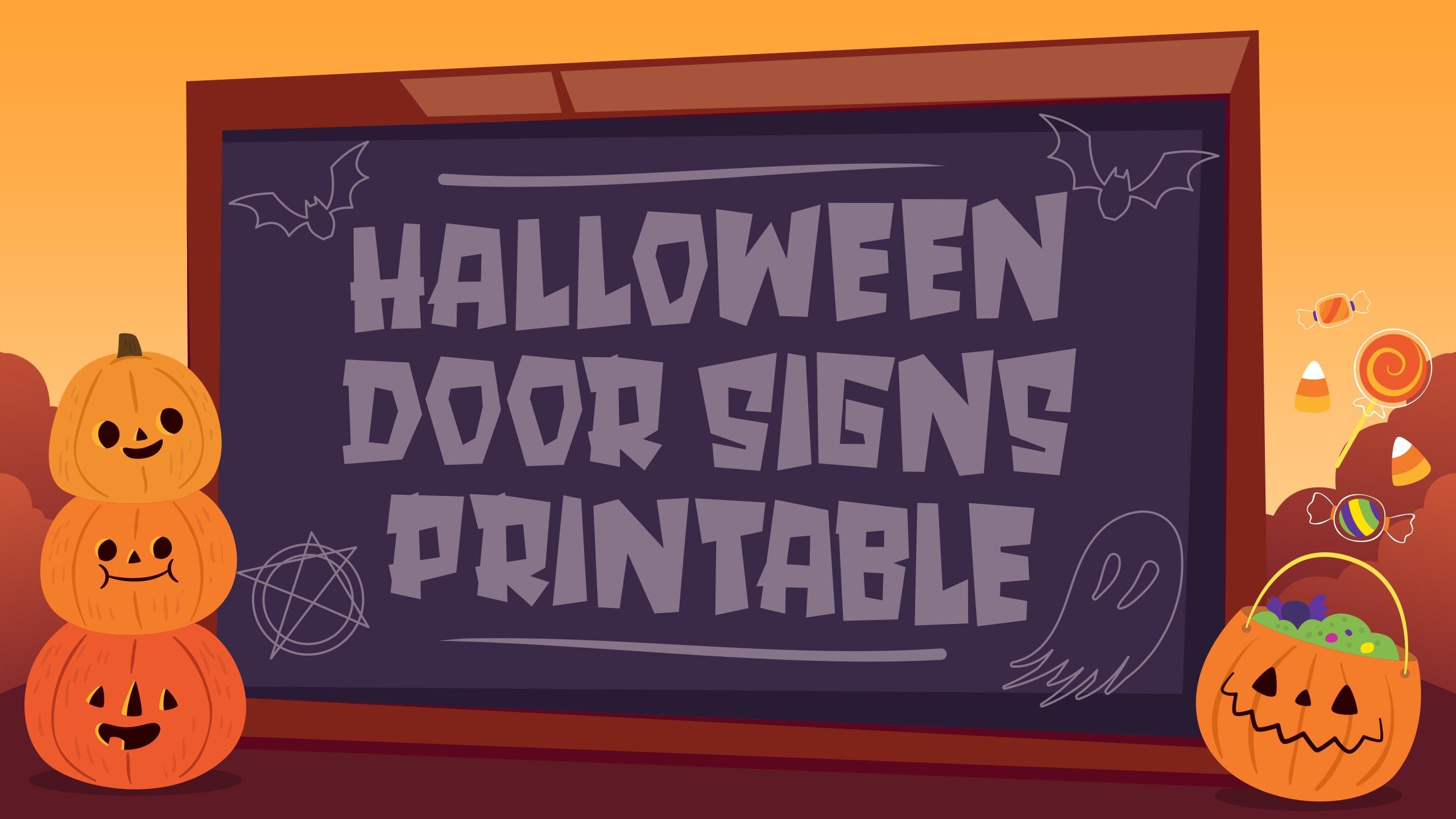 Halloween Door Signs Printable
