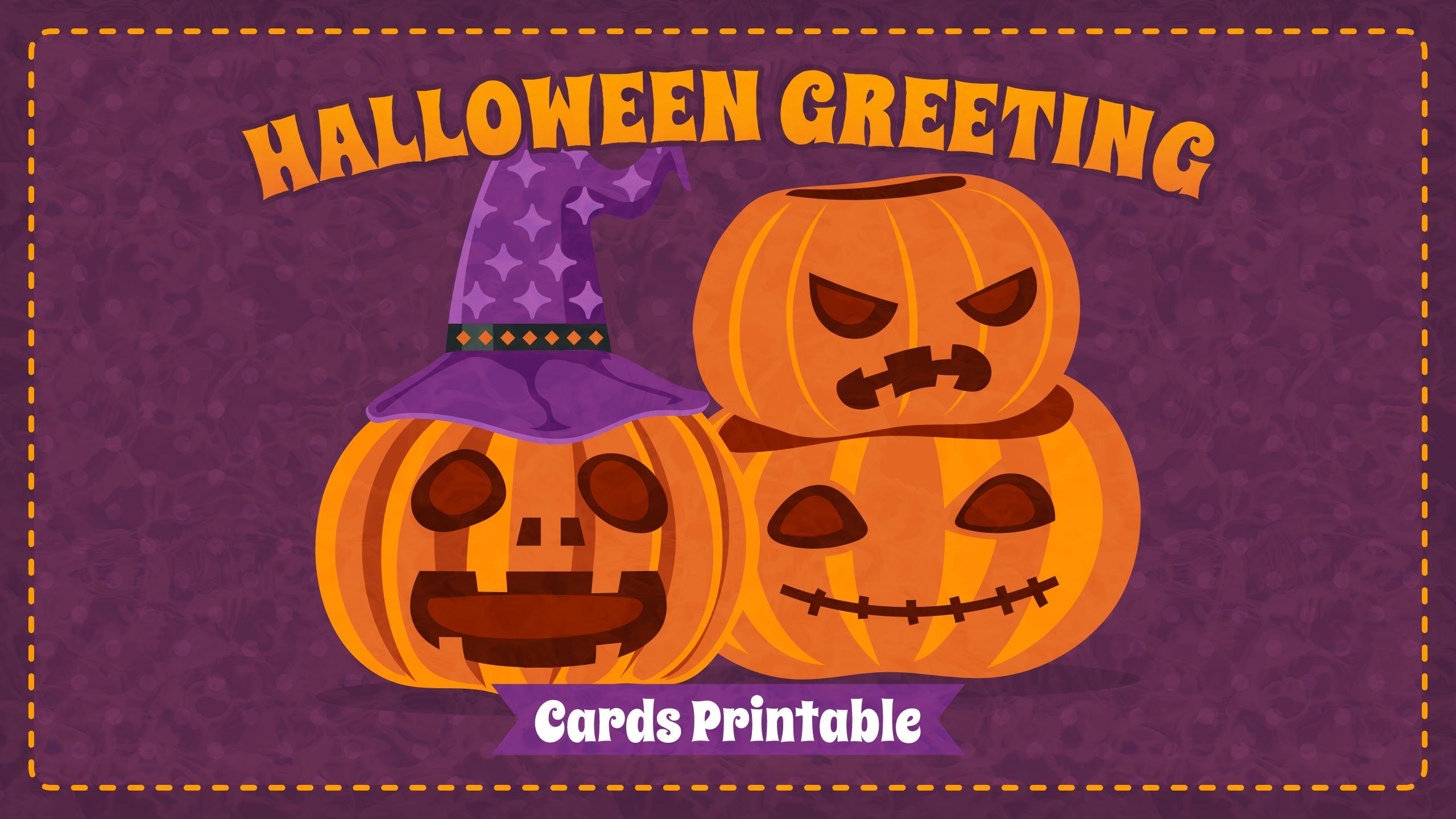 Halloween Greeting Cards Printable