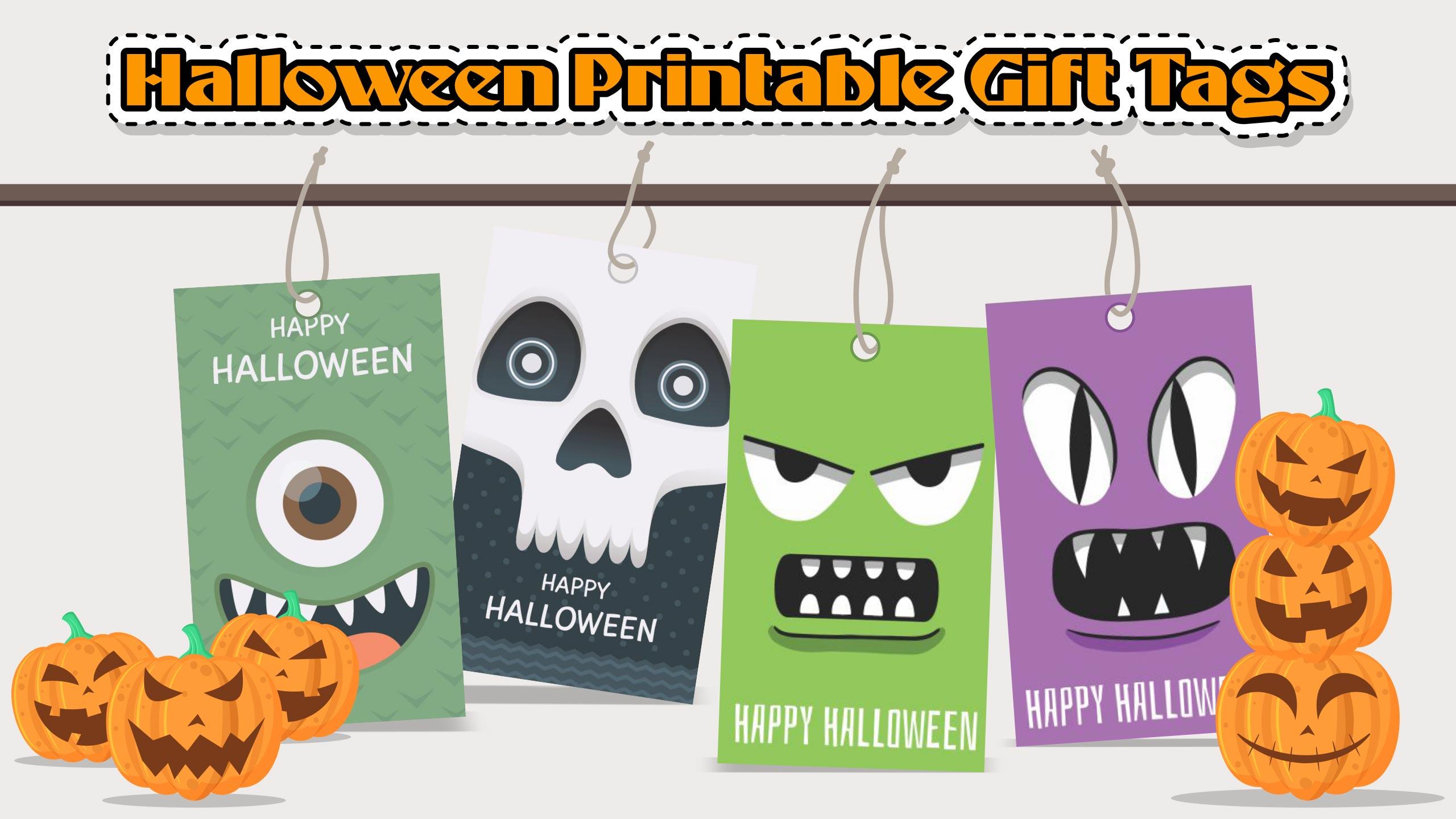 Halloween Printable Gift Tags