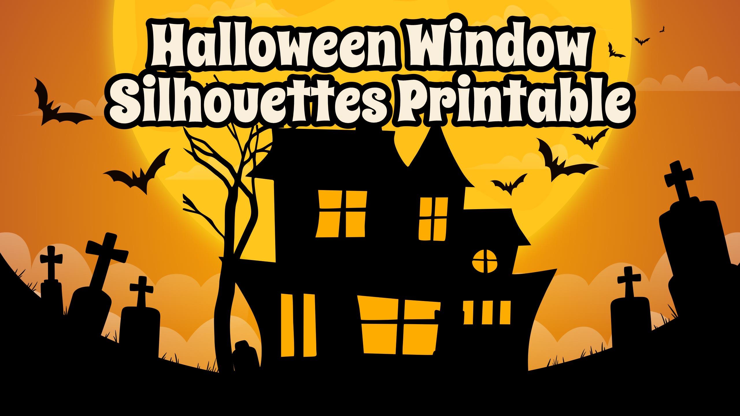 Halloween Window Silhouettes Printable