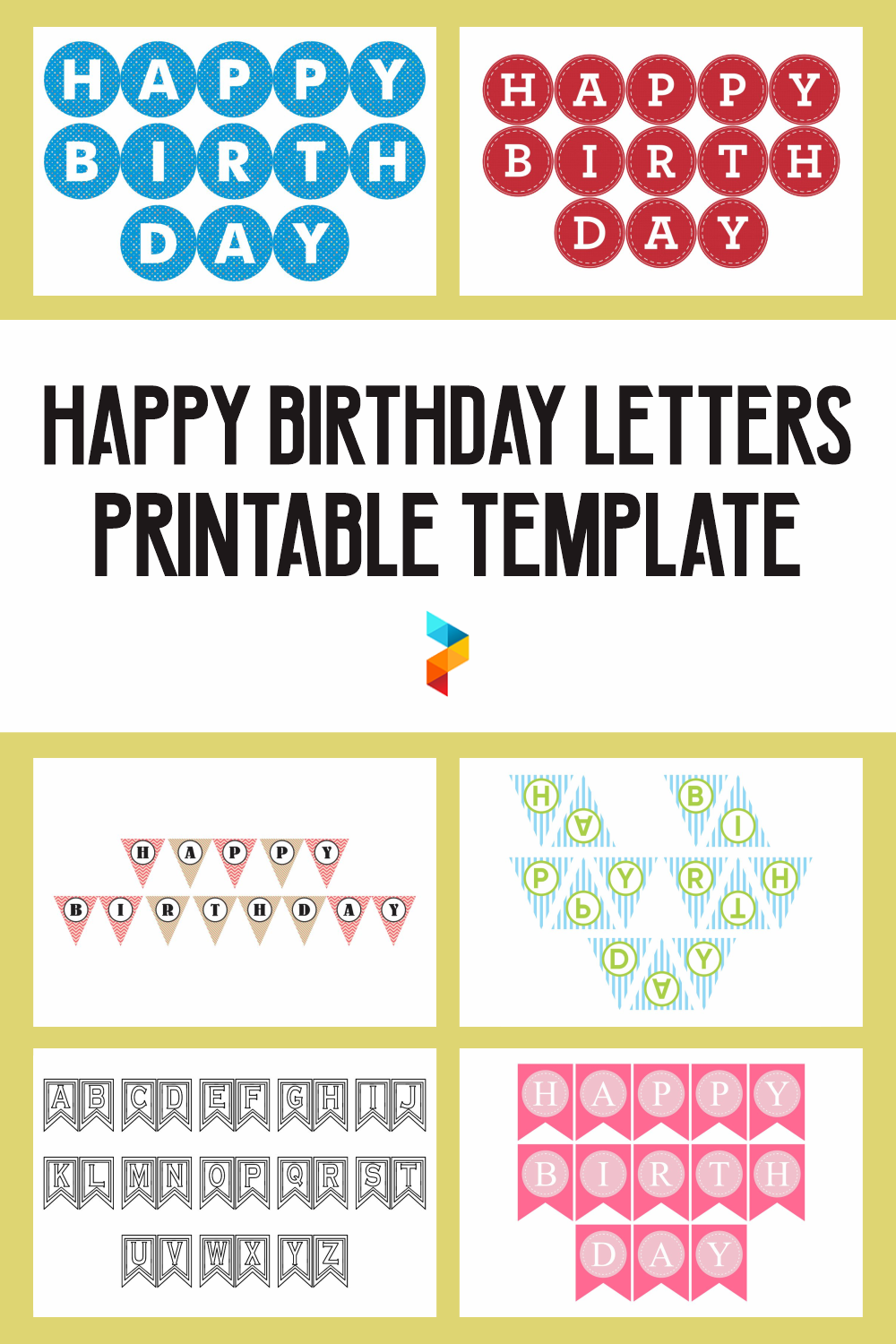 Happy Birthday Letters Printable Template