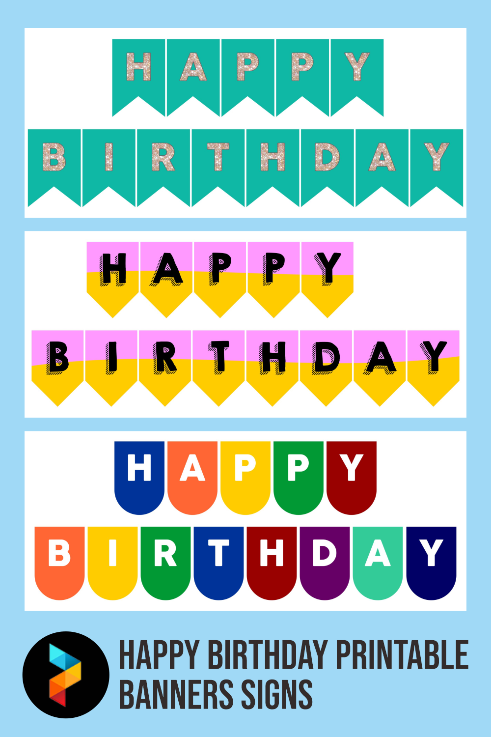 Happy Birthday Printable Banners Signs