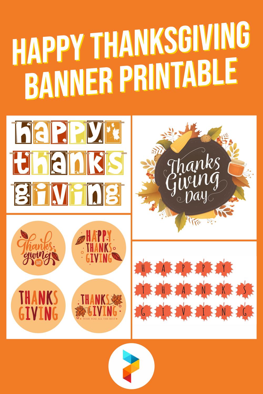 Happy Thanksgiving Banner Printable