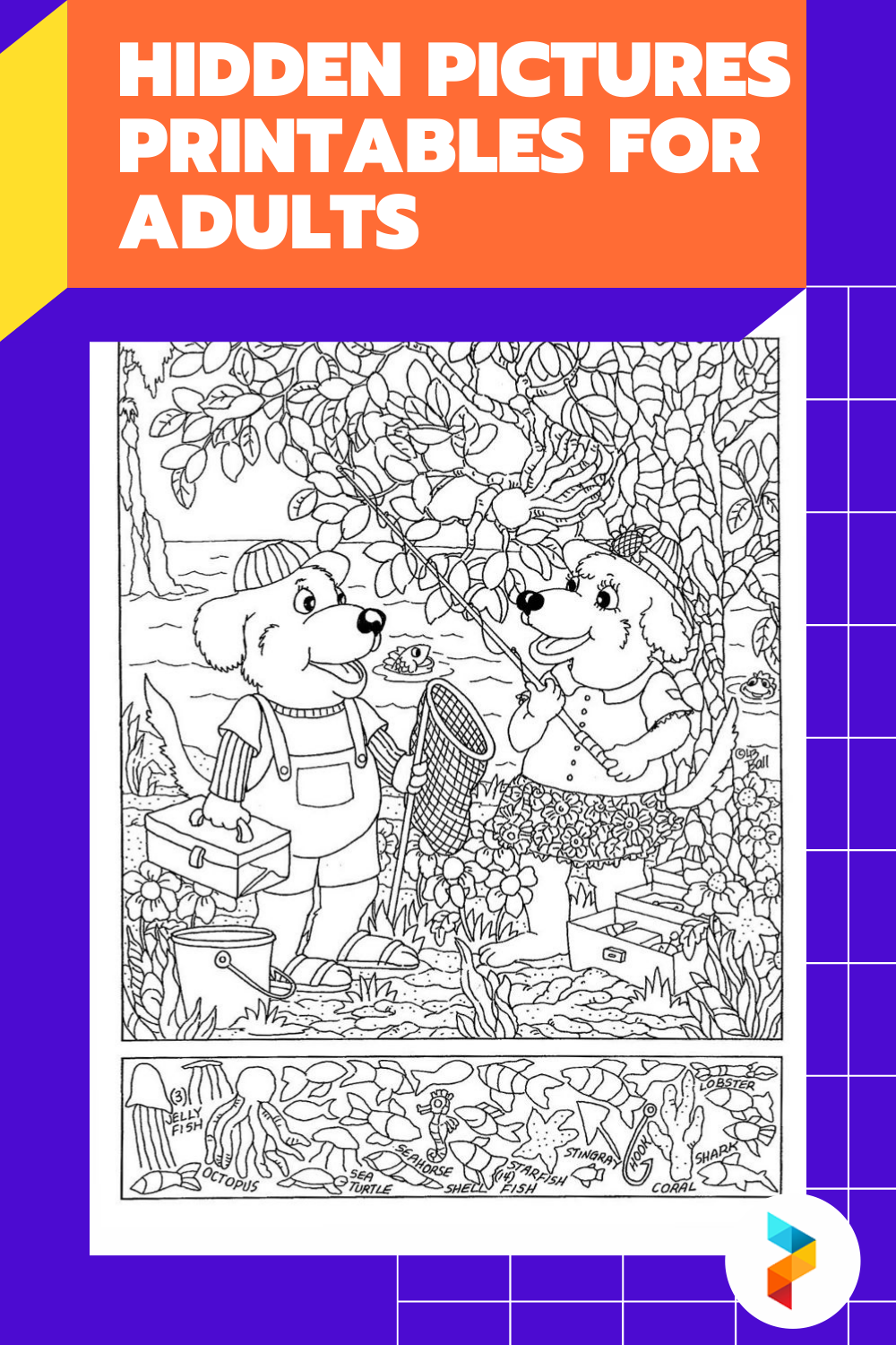 Hidden Pictures Printables For Adults
