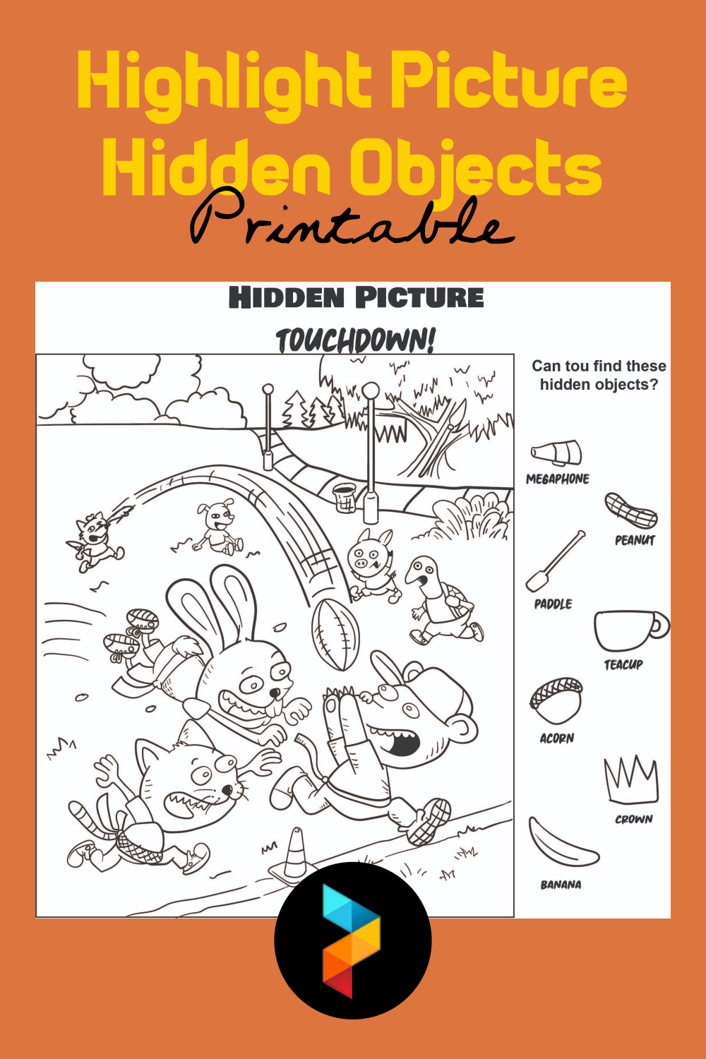 Highlight Picture Hidden Objects Printable