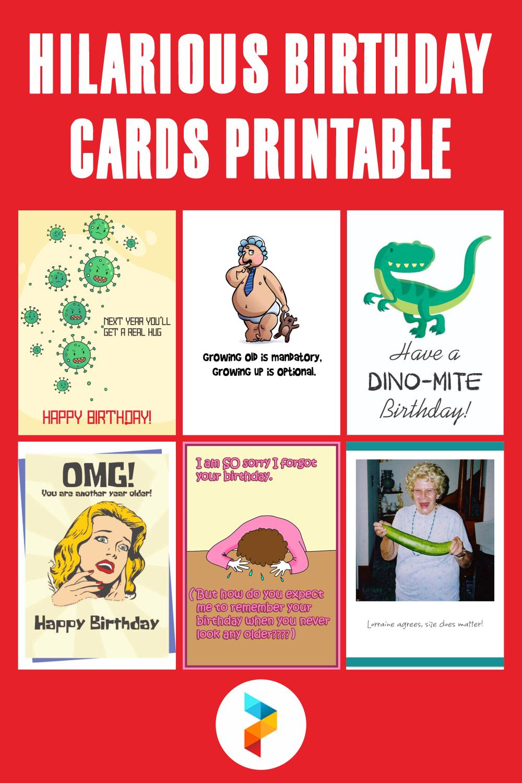 Hilarious Birthday Cards Printable